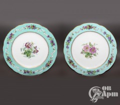 Тарелки с цветочным узором Александр II